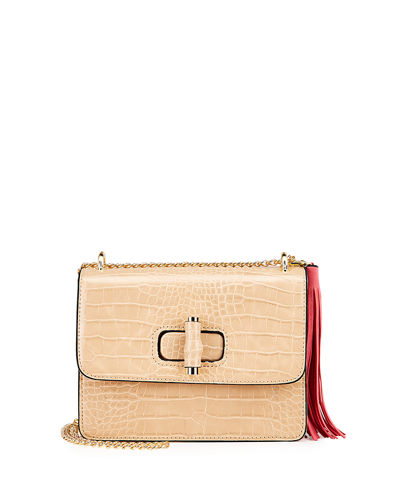 Tahiti Croco Flap Bag