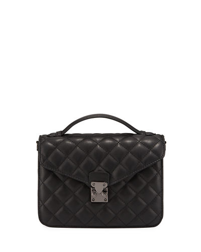 Delancey Quilted Top-Handle Satchel Bag