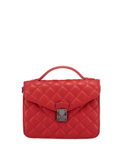 KC Jagger Delancey Quilted Top-Handle Satchel Bag
