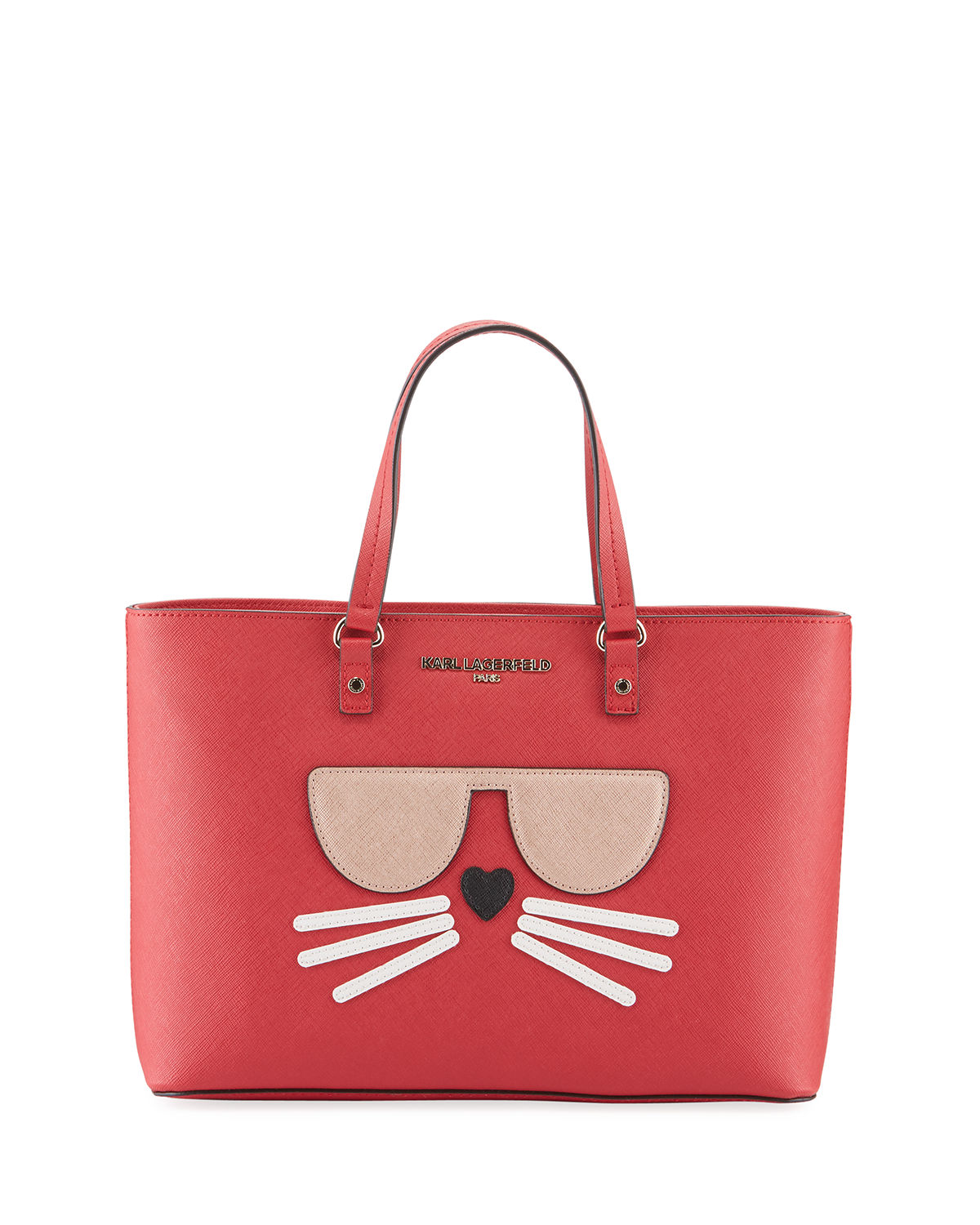 Karl Lagerfeld Totes MAYBELLE SAFFIANO LEATHER CHOUPETTE TOTE BAG