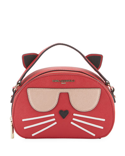 Maybelle Saffiano Choupette Cat Crossbody Bag