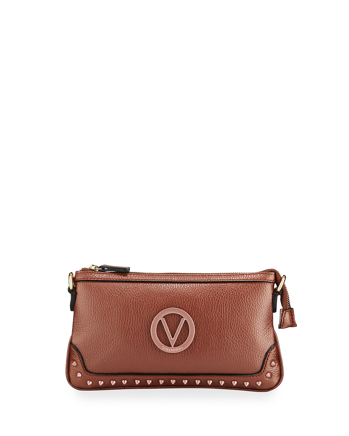 Valentino By Mario Valentino  ABIGAIL STUDDED LEATHER CROSSBODY BAG