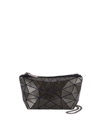 Metallic Triangle Geometric Tiled Clutch Bag