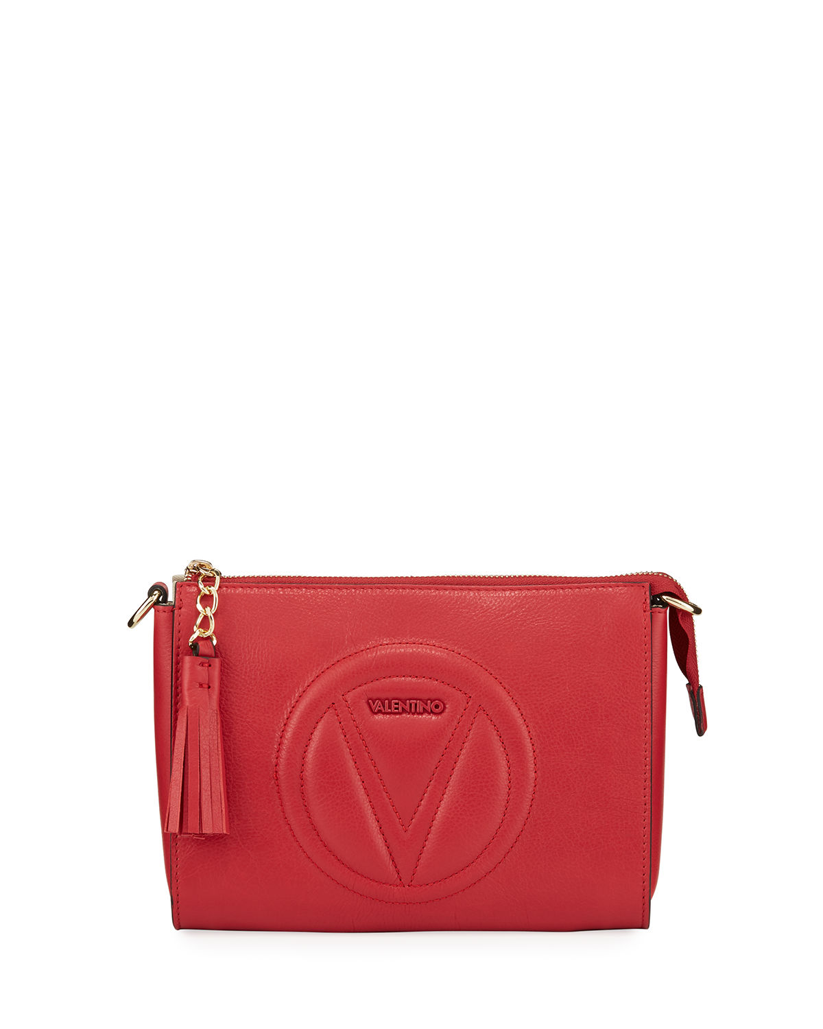 Valentino By Mario Valentino SUSANNE QUILTED LOGO LEATHER SHOULDER BAG
