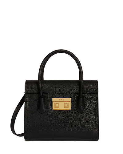 Bella Small Leather Satchel Bag