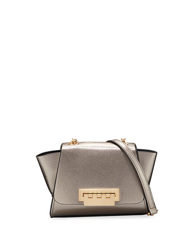 Eartha Metallic Leather Crossbody Bag