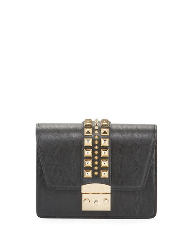 Benedicte Spiked Leather Crossbody Bag