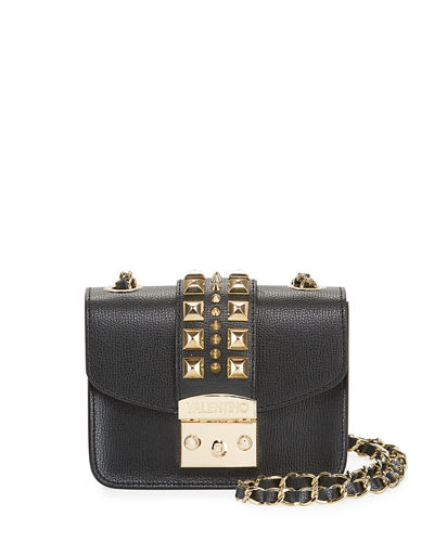 Fleurette Palmellato Leather Crossbody Bag