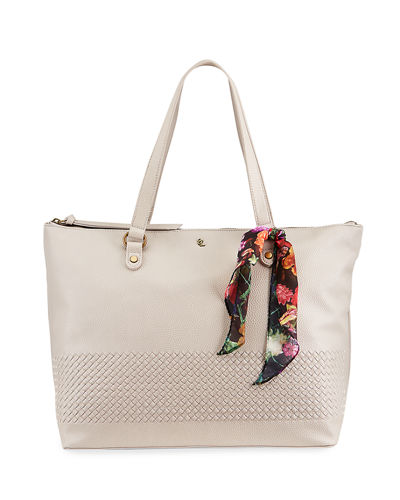 Waverly Large Woven Scarf Tote Bag