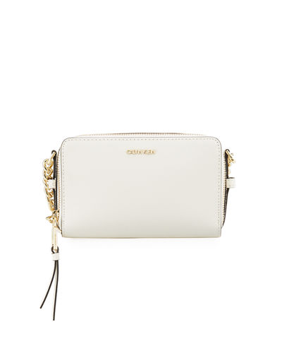Marybelle Saffiano Dual-Zip Crossbody Bag