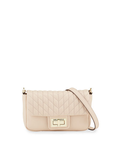 Agyness Small Pebbled Leather Crossbody Bag