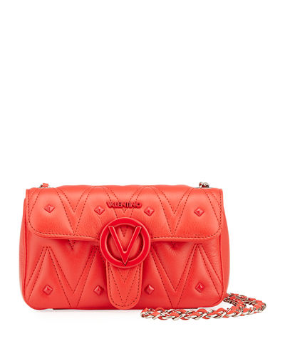 Poisson D Sauvage Studs Leather Shoulder Bag