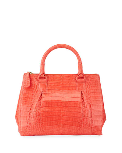Nancy Gonzalez Plisse Large Crocodile Plisse Tote Bag