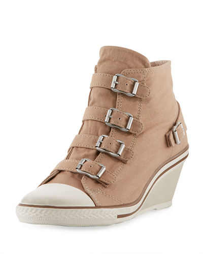 Genialbis Buckled Wedge Sneaker