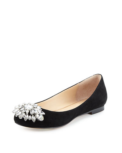 Mystic Crystal Leather Flat
