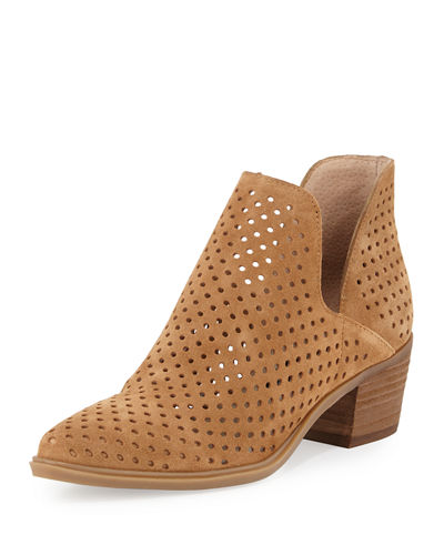 Danese Perforated Suede Bootie