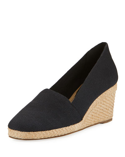 Pamela Canvas Wedge Pump