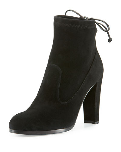 Catch Suede Bootie with Ankle Tie