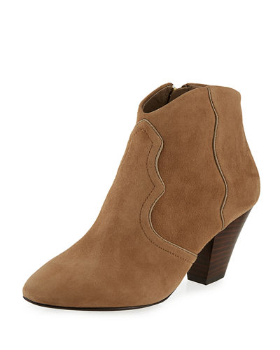 Gang Suede Pointed-Toe Bootie