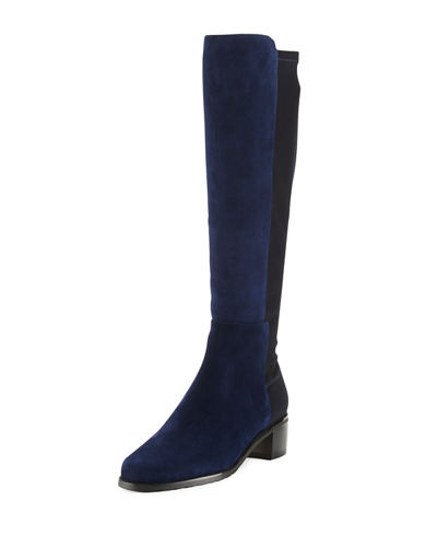 Halfback Suede Stretch Knee Boot, Nice Blue
