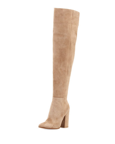 Gianvito Rossi Rolling High Cuissard Seamed Suede 100mm