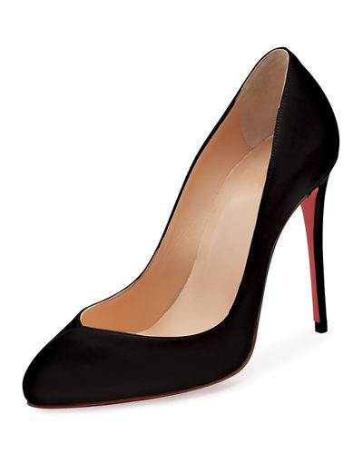 Christian Louboutin Breche Leather 100mm Red Sole Pumps