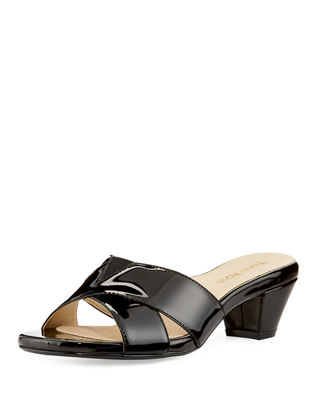 Taryn Rose Patent Leather Slingback Sandals