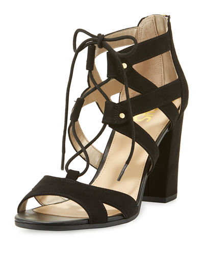 Emilia Micro-Suede Lace-Up Sandal