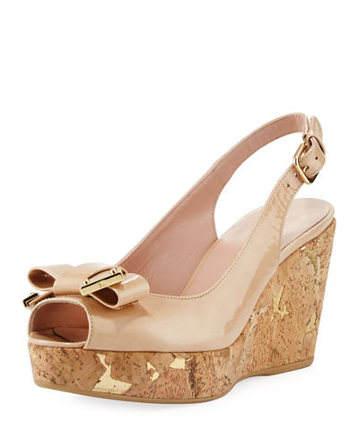 Bodajean Bow Cork Wedge Sandals