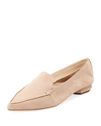 Kiki Pointed-Toe Suede Loafer