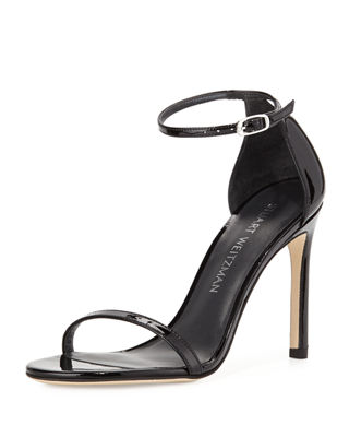 Stuart Weitzman Patent Leather Thong Sandals