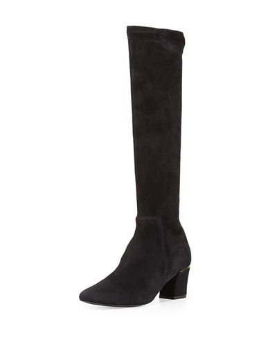 Cyera Stretch-Suede Knee Boot