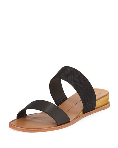 Pasia Banded Slide Wedge Sandals