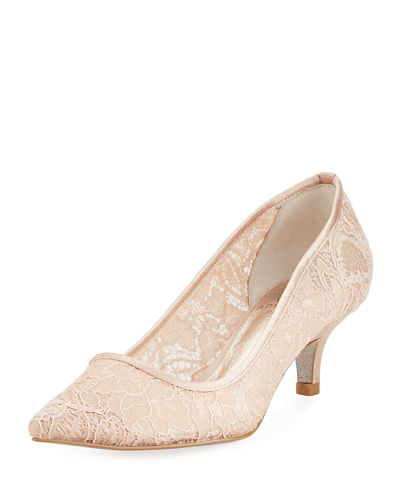Lois Lace Kitten Pump