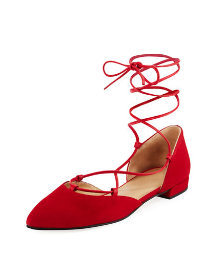 Gilligan Suede Lace-Up d'Orsay Flat