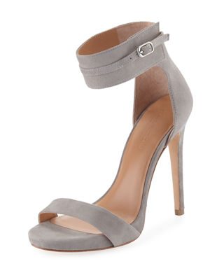 Halston Heritage Suede Ankle-Strap Sandals