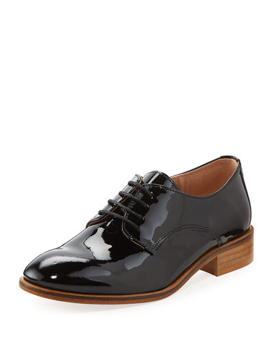 Patent Leather Lace-Up Oxford
