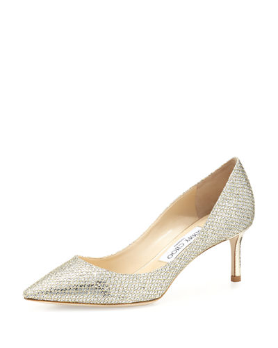 8d00eff5ad14 Jimmy Choo Romy Glitter Pointed-Toe 60mm Pump
