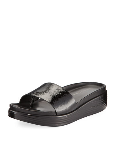 Sale New Styles Donald J Pliner Leather Slide Sandals Quality From China Cheap Outlet Classic eDjcZyW