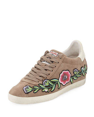 Gull Suede Floral Sneaker