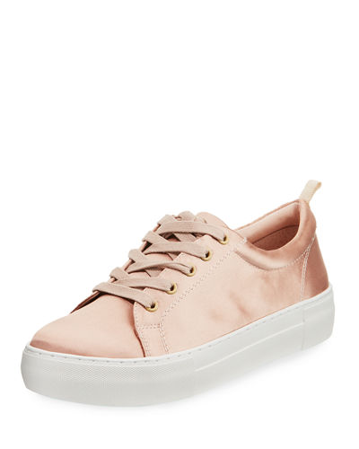 Amber Lace-Up Satin Sneaker