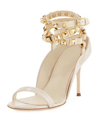 Giuseppe Zanotti Spiked Leather Strappy Sandal