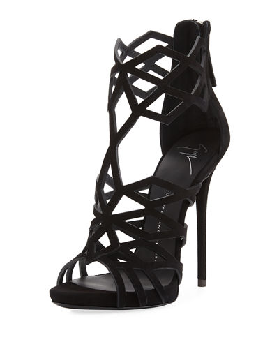 Giuseppe Zanotti Caged Cutout Zip High Pump