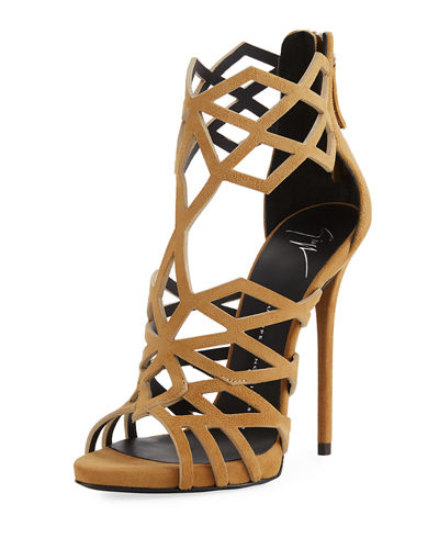 Caged Cutout Zip High Pump