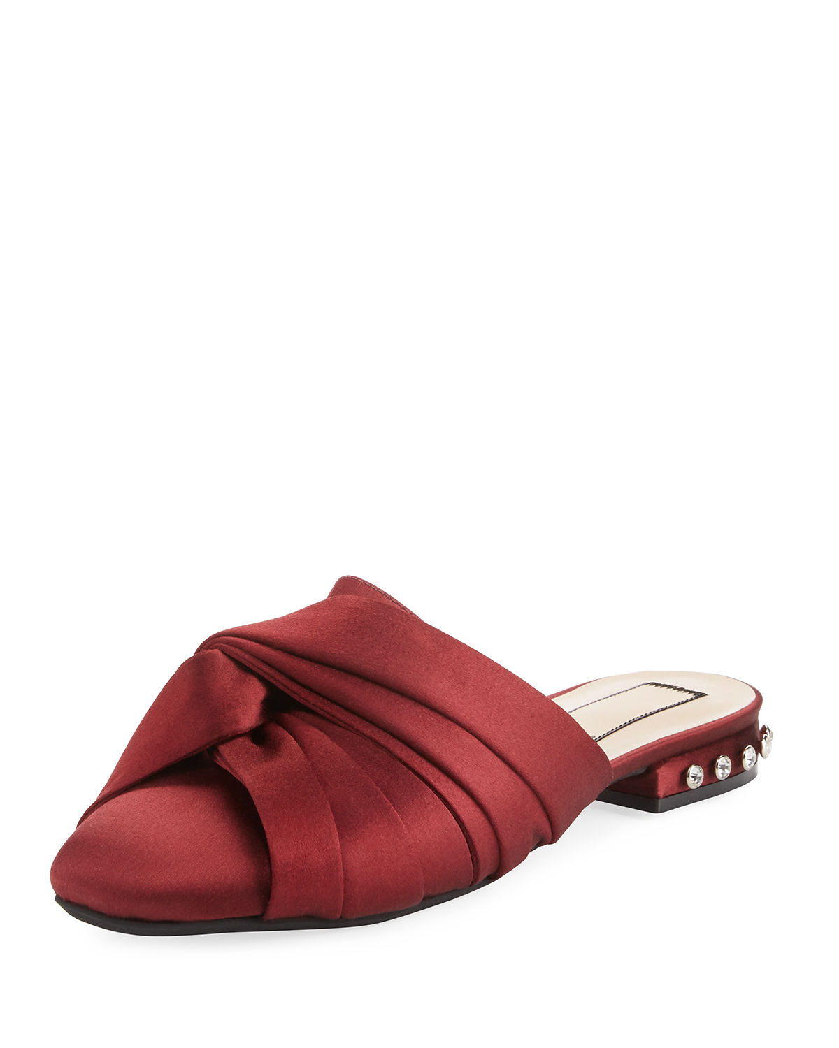 Satin Knotted Flat Mule