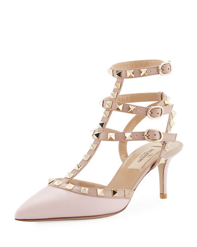Rockstud Leather High Pump