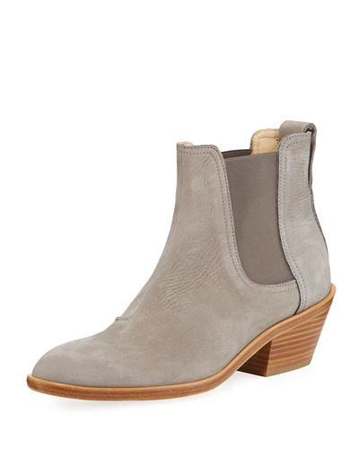 Dixon Nubuck Heeled Ankle Boot