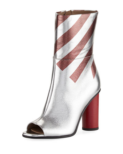 Metallic Striped High Boot