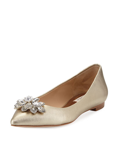 Karina Embellished Leather Flat