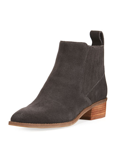 Tawny Suede Stitched Chelsea Bootie